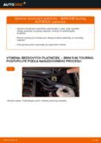 Ako vymeniť zadné brzdové platničky na BMW E46 touring – návod na výmenu