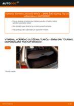 Ako vymeniť zadné horné uloženie tlmiča na BMW E46 touring – návod na výmenu
