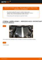 Výmena Lambda sonda: pdf pokyny pre MERCEDES-BENZ C-CLASS