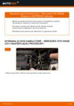 Jak zmienić Komplet klocków hamulcowych MERCEDES-BENZ VITO: darmowy pdf