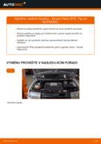Jak vyměnit přední uložení tlumiče na Skoda Fabia 6Y5 – návod k výměně