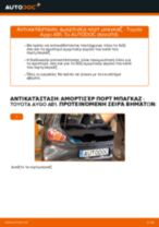 Αλλαγή Αμορτισέρ Πορτ Μπαγκαζ TOYOTA AYGO: εγχειριδιο χρησης