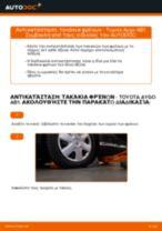 Πώς αλλαγη και ρυθμιζω Τακάκια Φρένων TOYOTA AYGO: οδηγός pdf