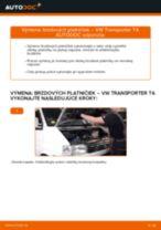 Ako vymeniť predné brzdové platničky na VW Transporter T4 – návod na výmenu