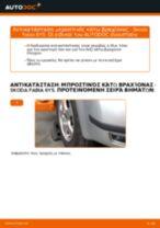 Οι συστάσεις του μηχανικού αυτοκινήτου για την αντικατάσταση SKODA Skoda Fabia 6y5 1.9 TDI Βάση Αμορτισέρ