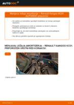 Avtomehanična priporočil za zamenjavo RENAULT Renault Kangoo kc01 1.4 Zracni filter