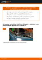 Zamenjavo Zavorni kolut: pdf navodila za RENAULT KANGOO