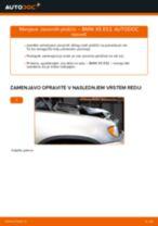 Kako zamenjati in prilagoditi Zavorne Ploščice BMW X5: vodnik pdf