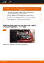 Kako zamenjati avtodel zavorni diski zadaj na avtu BMW E46 cabrio – vodnik menjave