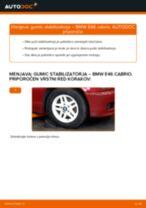 Kako zamenjati avtodel gumice stabilizatorja spredaj na avtu BMW E46 cabrio – vodnik menjave