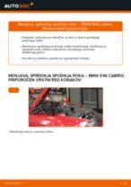 Kako zamenjati avtodel sprednja spodnja roka na avtu BMW E46 cabrio – vodnik menjave
