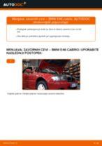 Kako zamenjati avtodel zavorne cevi spredaj na avtu BMW E46 cabrio – vodnik menjave