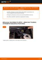 Kako zamenjati avtodel zavorne ploščice zadaj na avtu BMW E46 touring – vodnik menjave
