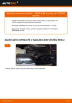 Kako zamenjati avtodel zavorne ploščice spredaj na avtu BMW E46 touring – vodnik menjave