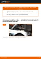 Kako zamenjati avtodel zavorne cevi spredaj na avtu BMW E46 touring – vodnik menjave