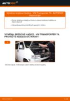 Jak vyměnit přední brzdove hadicky na VW Transporter T4 – návod k výměně