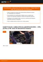 Como mudar cabeçotes do amortecedores da parte dianteira em Opel Astra G F48 - guia de substituição