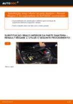 Guia passo-a-passo do reparo do Renault Megane 2