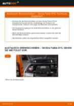 Wie Bremssattelträger SKODA FABIA tauschen und einstellen: PDF-Tutorial