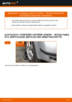 SKODA FABIA Combi (6Y5) Bremssattelhalter wechseln vorne links rechts: Anleitung pdf