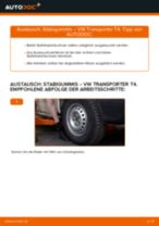 Wann Stabilisatorlagerung wechseln: PDF Handbuch für VW TRANSPORTER IV Bus (70XB, 70XC, 7DB, 7DW)