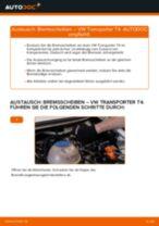 VW TRANSPORTER IV Bus (70XB, 70XC, 7DB, 7DW) Bremssattel wechseln rechts und links: Anleitung pdf
