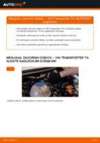 Avtomehanična priporočil za zamenjavo VW VW TRANSPORTER IV Bus (70XB, 70XC, 7DB, 7DW) 2.4 D Blazilnik
