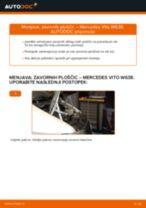 Zamenjavo Zavorne Ploščice MERCEDES-BENZ VITO: brezplačen pdf
