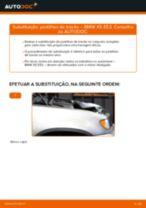 Como mudar pastilhas de travão da parte traseira em BMW X5 E53 - guia de substituição