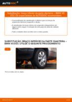 Como mudar braço inferior da parte dianteira em BMW X5 E53 - guia de substituição
