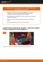 Como mudar discos de travão da parte dianteira em BMW E46 cabrio - guia de substituição