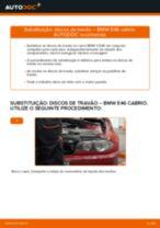 Como mudar discos de travão da parte traseira em BMW E46 cabrio - guia de substituição