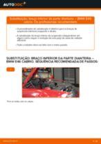 Tutorial passo a passo em PDF sobre a substituição de Casquilho Da Barra Estabilizadora no BMW 3 Convertible (E46)