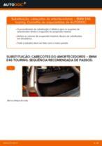 Como mudar cabeçotes do amortecedores da parte traseira em BMW E46 touring - guia de substituição