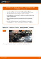 Como mudar discos de travão da parte dianteira em Toyota Aygo AB1 - guia de substituição