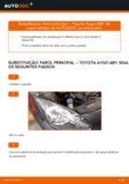 Manual online sobre a substituição de Kit de acessórios, pastilhas de travão em Toyota Land Cruiser J7
