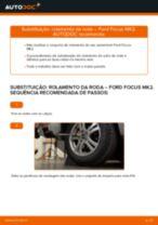 Como mudar rolamento da roda da parte traseira em Ford Focus MK2 - guia de substituição