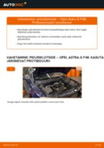 Opel Astra h l48 samm-sammuline remondijuhend