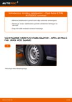 Opel Astra j Kombi töökoja käsiraamat