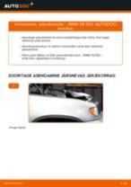 Kuidas vahetada ja reguleerida Piduriklotsid BMW X5: pdf juhend