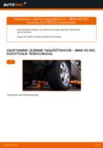 PDF asendamise juhend: Roolimine(risti-, piki-, põiki-) BMW X5 (E53) tagumine ja eesmine