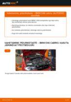 Kuidas vahetada BMW E46 cabrio esi-piduriketaste – õpetus