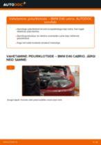 Paigaldus Piduriklotsid BMW 3 Convertible (E46) - samm-sammuline käsiraamatute