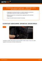 Kuidas vahetada BMW E46 cabrio taga-amordi tugilaager – õpetus