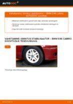Kuidas vahetada BMW E46 cabrio esi-kinnitus stabilisaator – õpetus