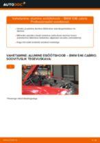PDF asendamise juhend: Roolimine(risti-, piki-, põiki-) BMW 3 Cabrio (E46) tagumine ja eesmine