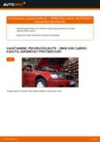 Kuidas vahetada BMW E46 cabrio esi-pidurivoolikute – õpetus