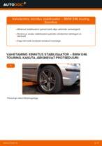 Kuidas vahetada BMW E46 touring esi-kinnitus stabilisaator – õpetus