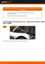 Kuidas vahetada BMW E46 touring esi-pidurivoolikute – õpetus