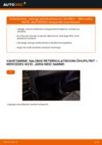 Mercedes S211 samm-sammuline remondijuhend